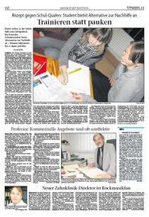 Ostsee-Zeitung: Trainieren statt pauken