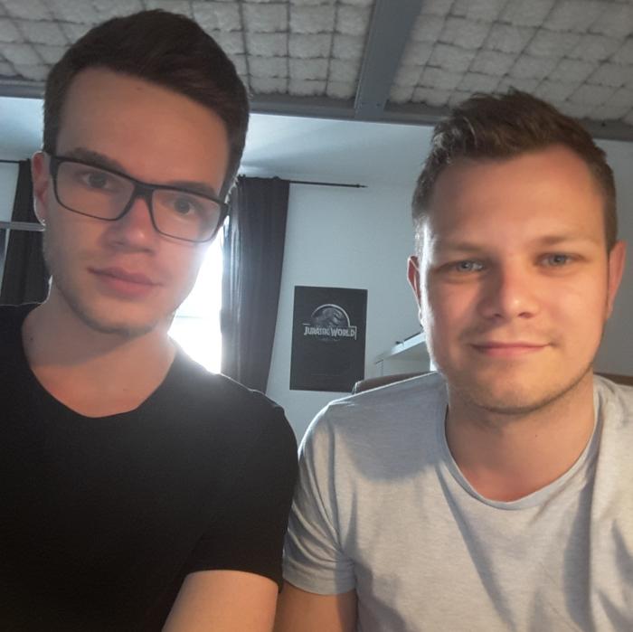 Schüler Johannes und Lerntrainer Finn